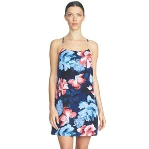 1.State Floral Print Racerback Shift Dress